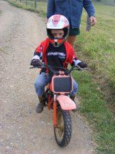 Kaleb Learning to Ride 2